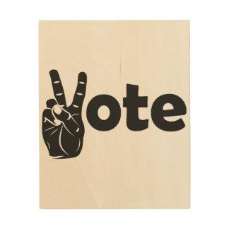 Illustrations-Abstimmung für Frieden Holzwanddeko