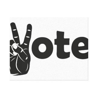 Illustrations-Abstimmung für Frieden Leinwanddruck