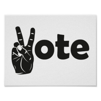 Illustrations-Abstimmung für Frieden Poster