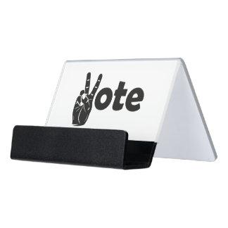 Illustrations-Abstimmung für Frieden Schreibtisch-Visitenkartenhalter