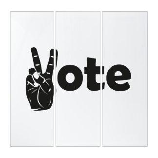 Illustrations-Abstimmung für Frieden Triptychon