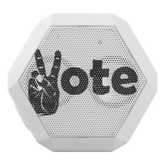 Illustrations-Abstimmung für Frieden Weiße Bluetooth Lautsprecher