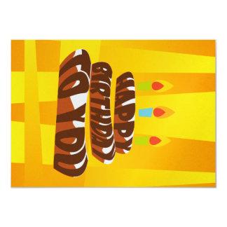 Illustrations-alles- Gute zum Geburtstagkuchen mit 11,4 X 15,9 Cm Einladungskarte