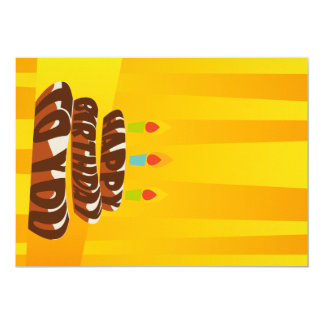 Illustrations-alles- Gute zum Geburtstagkuchen mit 12,7 X 17,8 Cm Einladungskarte