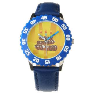 Illustrations-alles- Gute zum Geburtstagkuchen mit Armbanduhr