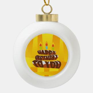 Illustrations-alles- Gute zum Geburtstagkuchen mit Keramik Kugel-Ornament
