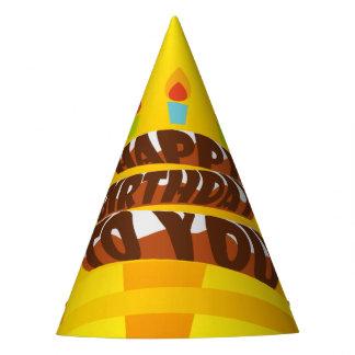 Illustrations-alles- Gute zum Geburtstagkuchen mit Partyhütchen