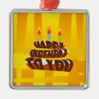 Illustrations-alles- Gute zum Geburtstagkuchen mit Silbernes Ornament