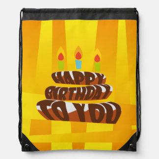Illustrations-alles- Gute zum Geburtstagkuchen mit Turnbeutel