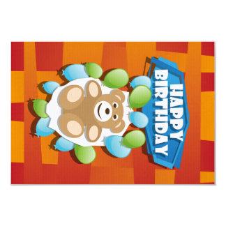 Illustrations-alles- Gute zum GeburtstagTeddybär 8,9 X 12,7 Cm Einladungskarte