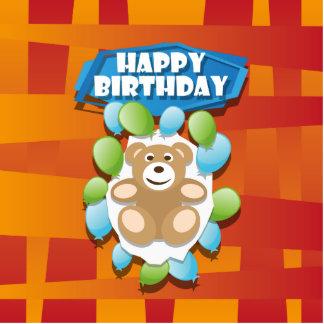 Illustrations-alles- Gute zum GeburtstagTeddybär Fotoskulptur Magnet