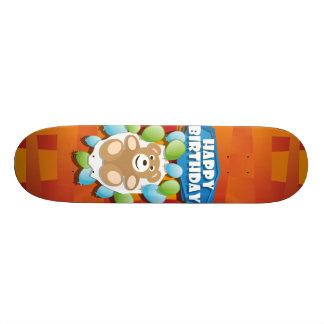 Illustrations-alles- Gute zum GeburtstagTeddybär Individuelle Skateboards
