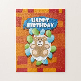 Illustrations-alles- Gute zum GeburtstagTeddybär Puzzle