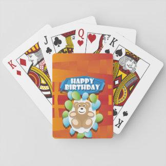 Illustrations-alles- Gute zum GeburtstagTeddybär Spielkarten