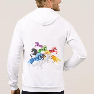 Illustrations-bunte wilde Einhörner Hoodie