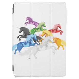 Illustrations-bunte wilde Einhörner iPad Air Hülle