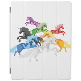 Illustrations-bunte wilde Einhörner iPad Hülle