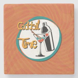 Illustrations-Cocktail mit Cocktailshaker Steinuntersetzer