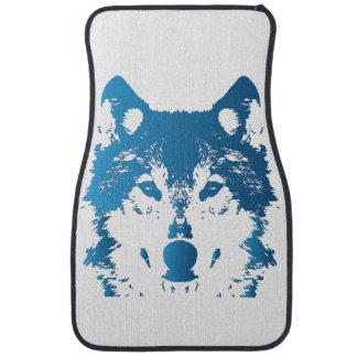 Illustrations-Eis-Blau-Wolf Autofußmatte