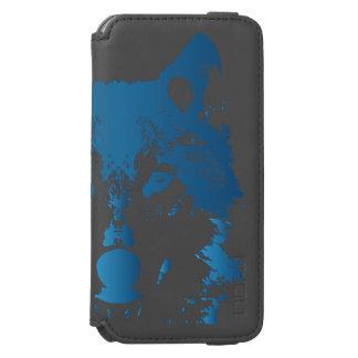 Illustrations-Eis-Blau-Wolf Incipio Watson™ iPhone 6 Geldbörsen Hülle