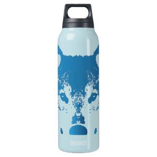 Illustrations-Eis-Blau-Wolf Isolierte Flasche