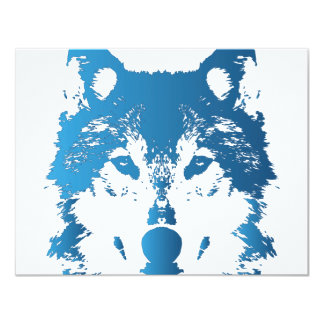 Illustrations-Eis-Blau-Wolf Karte