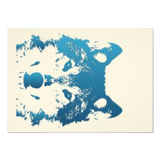 Illustrations-Eis-Blau-Wolf Karte