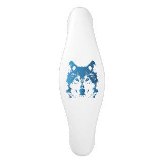 Illustrations-Eis-Blau-Wolf Keramik Schrankknauf
