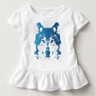 Illustrations-Eis-Blau-Wolf Kleinkind T-shirt