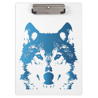 Illustrations-Eis-Blau-Wolf Klemmbrett