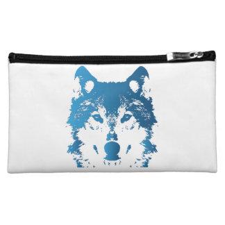 Illustrations-Eis-Blau-Wolf Kosmetiktasche