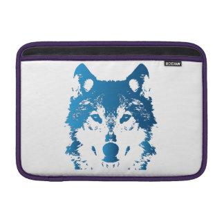 Illustrations-Eis-Blau-Wolf MacBook Sleeve