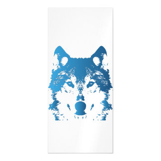 Illustrations-Eis-Blau-Wolf Magnetische Karte