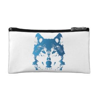 Illustrations-Eis-Blau-Wolf Makeup-Tasche