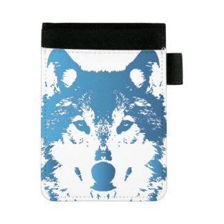 Illustrations-Eis-Blau-Wolf Mini Padfolio