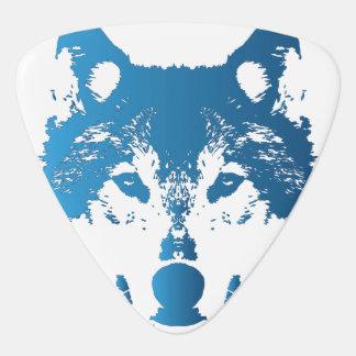 Illustrations-Eis-Blau-Wolf Plektron