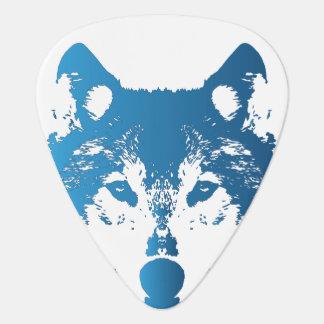 Illustrations-Eis-Blau-Wolf Plektrum