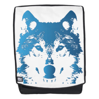 Illustrations-Eis-Blau-Wolf Rucksack