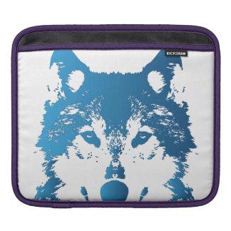 Illustrations-Eis-Blau-Wolf Sleeve Für iPads