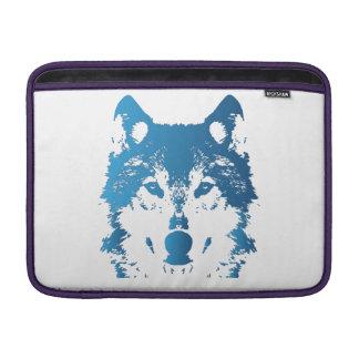 Illustrations-Eis-Blau-Wolf Sleeve Fürs MacBook Air