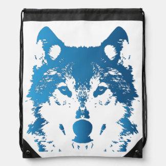 Illustrations-Eis-Blau-Wolf Sportbeutel