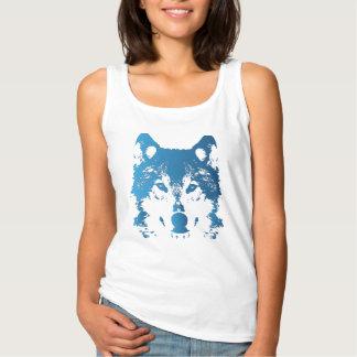 Illustrations-Eis-Blau-Wolf Tank Top