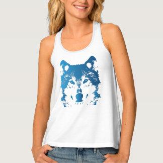 Illustrations-Eis-Blau-Wolf Tanktop