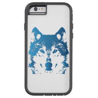 Illustrations-Eis-Blau-Wolf Tough Xtreme iPhone 6 Hülle