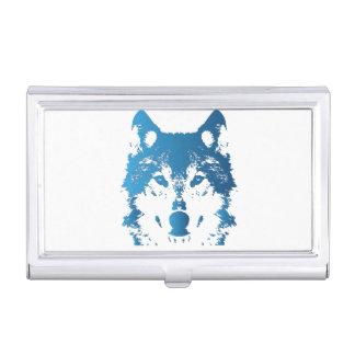 Illustrations-Eis-Blau-Wolf Visitenkarten Dose