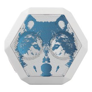 Illustrations-Eis-Blau-Wolf Weiße Bluetooth Lautsprecher