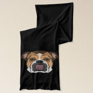 Illustrations-Englisch-Bulldogge Schal
