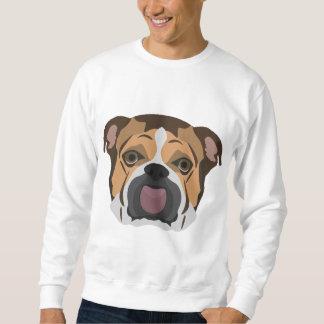Illustrations-Englisch-Bulldogge Sweatshirt