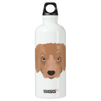 Illustrations-golden retriever-Welpe Aluminiumwasserflasche