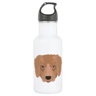 Illustrations-golden retriever-Welpe Trinkflasche